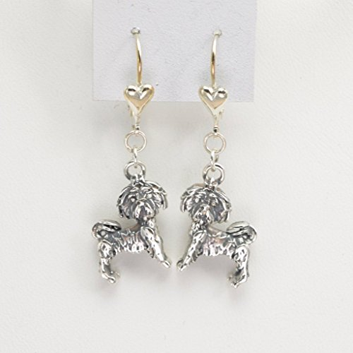 Sterling Silver ShihTzu Earrings from Donna Pizarro's Animal Whimsey Collection of Fine Shih-Tzu Jewelry and Shih Tzu Earrings Shih Tzu Earring