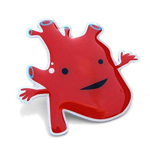 Love Heart Pin - Heart Lapel Pin Feel The Beat I Heart Guts
