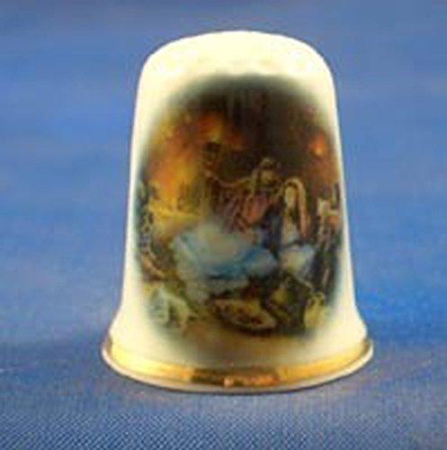 Porcellana da collezione ditale nascita Birchcroft China