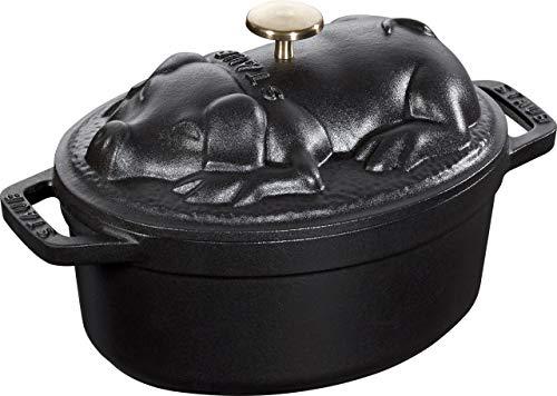 Staub Pig Cocotte 1 Qt Black