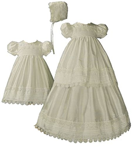 Girls Silk Convertible Christening Baptism Gown