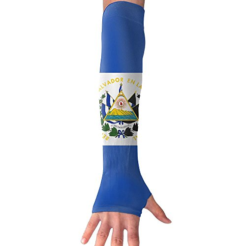 El Salvador Flag UV Protection Cooler Arm Sleeves Unisex Men Women Sun Protection Arm Cover Sleeve For Bike/Hiking/Running/Golf 1 Pair