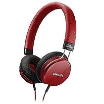 TopOne Philips SHL5300RD Citiscape Headband Headphones Fixie on Ear SHL5300 Red