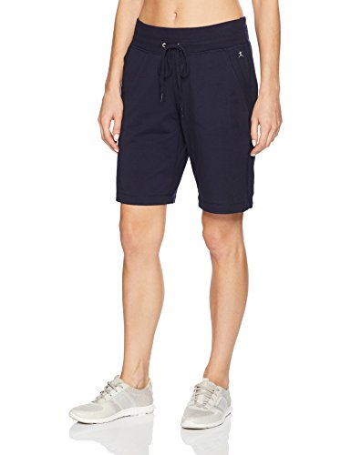 - Danskin Women's Essential Bermuda Short, Midnight Navy, L