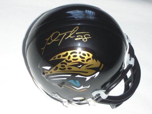 Fred Taylor Signed - Autographed Jacksonville Jaguars Mini Helmet (Gold Autograph)