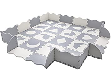 grey and white mosaic floor tiles