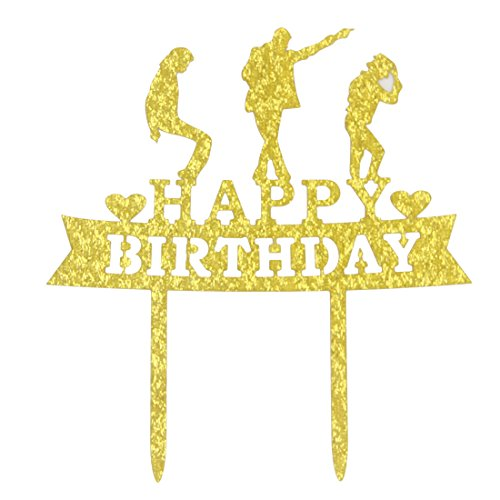 Price comparison product image Happy Birthday Cake Topper- Michael Jackson Birthday Party Decoration Supplies