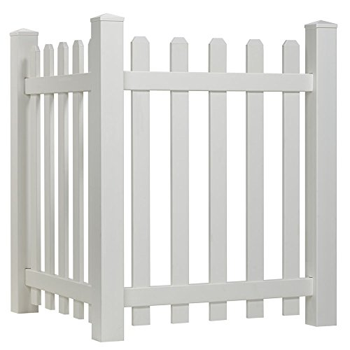 Outdoor Essentials Picket Accent Fence with Dog Ear Shaped Cap Spaced Picket Fence