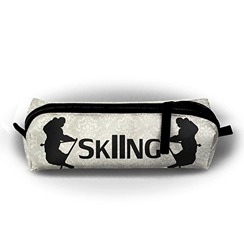 Ski Apres Ski Snow Mountains Freeski Telemark Snow Students Pencil Case Pen Bag Cosmetic ()