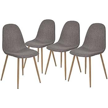 Amazon.com - Buschman Mid Century Modern Dining Room Chairs ...