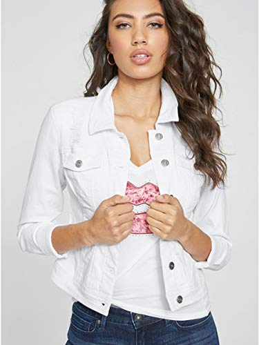 G by GUESS Women's Alicia Basic Denim - Guess White Jacket
