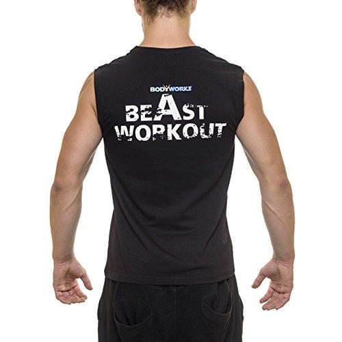 """Bodyworks Sleeveless Shirt Tank """"POWERLIFT"""" Herren Fitness Bodybuilding"""