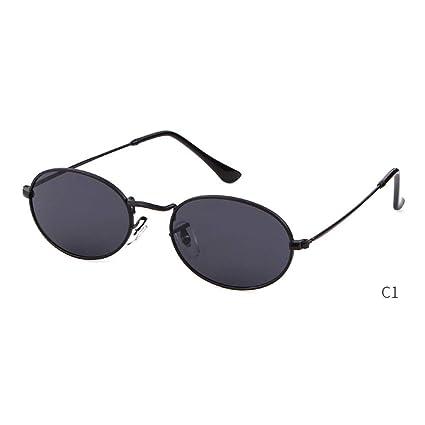 ZRTYJ Gafas de Sol Pequeñas Gafas de Sol ovaladas Hombres ...
