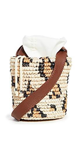 Sensi Studio Women's Mini Bucket Bag, Leopard/Natural, Tan, Print, One Size