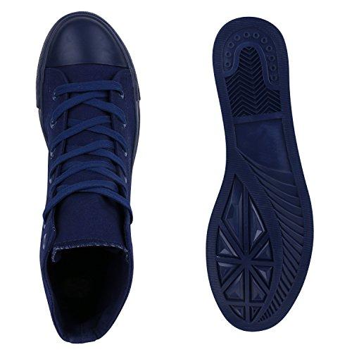 Flandell Übergrößen Sneaker Stiefelparadies high Dunkelblau Unisex Full Damen Herren qaUUYHw