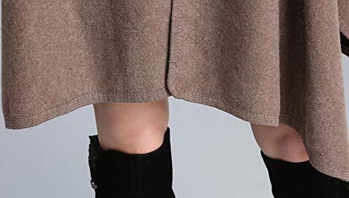 Cappuccio One Dimensioni Size E Scialle Da Blu Autunno Donna Maniche A Red Inverno Cardigan Acvxz Con colore Lunghe Corte fgTwqEnaZ