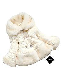xhorizon TM FL1 Baby Girl Kids Toddler Warm Winter Faux Fur Belt Jacket Coat