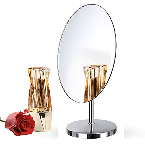 Free Standing Dressing Table Vanity Mirror,Oval Detachable Angle Adjustable Frameless Design for - Mirrors Rectangular Freestanding Bathroom