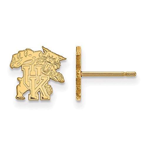 10k Yellow Gold LogoArt Official Licensed Collegiate University of Kentucky (UK) XS Post Earrings by LogoArt