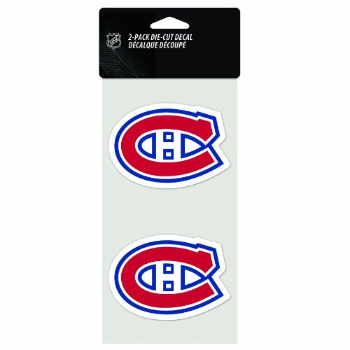 Montreal Canadians Hockey (NHL Montreal Canadiens 4-by-8 Inch Die Cut Decal)