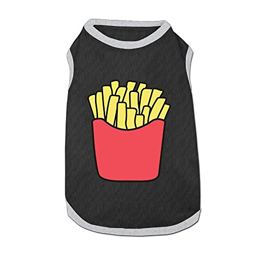 Big French Fries Puppy Dogs Shirts Costume Pets Clothing Warm Vest T-shirt Small]()