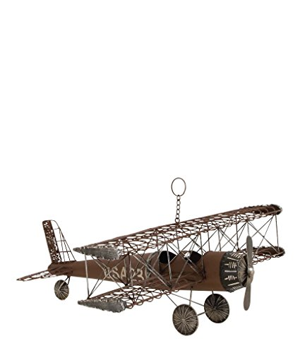 Deco 79 Metal Airplane, 22 by 9-Inch For Sale