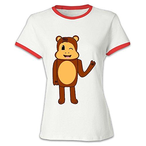 Women's Red Brand Julius Jr. Worry Bear T Shirt US Size XXL