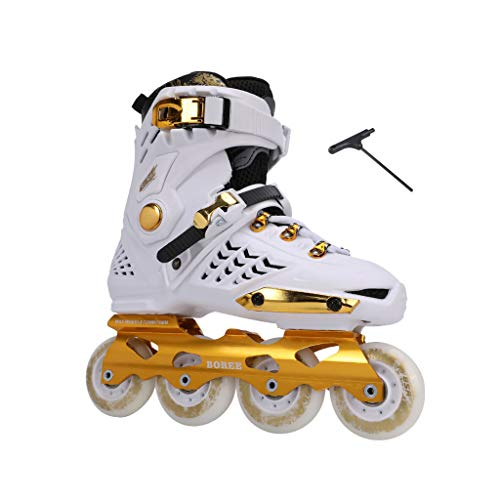 レーニン主義アセンブリ咽頭ailj インラインスケート、スケート、大人の男の子、ローラースケート、プロの多目的スケート(3色) (色 : 黒, サイズ さいず : EU 40/US 7.5/UK 6.5/JP 25cm)