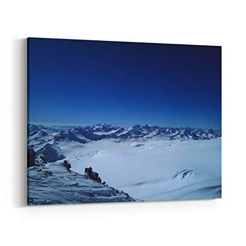 Rosenberry Rooms Canvas Wall Art Prints - Mount Elbrus Freerinding Ski Touring (30 x 20 - Freeride Touring Skis