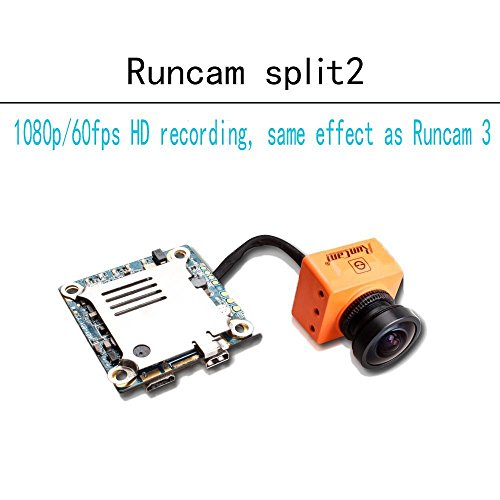 Runcam Split2 RunCam 3 FPV Camera 2.5mm FOV130 1080P/60fps HD Recorder Support 64G TF NTSC Low Latency TV-out with WDR Wifi for Drone Quadcopter Multicopter