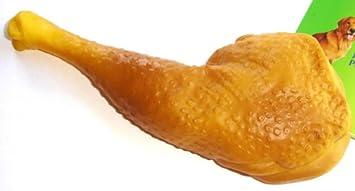 Amazon.com: Marca Nueva Squeaky muslo de pollo de goma Pet ...