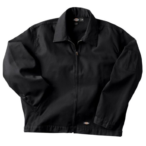 Dickies Men's Unlined Eisenhower Jacket, Black, 2X - Jacket Dickies Work