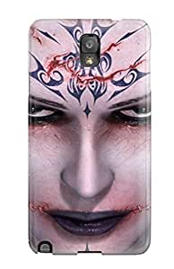 For ZippyDoritEduard Galaxy Protective Case, High Quality For Galaxy Note 3 Tattooed Girl Skin Case Cover