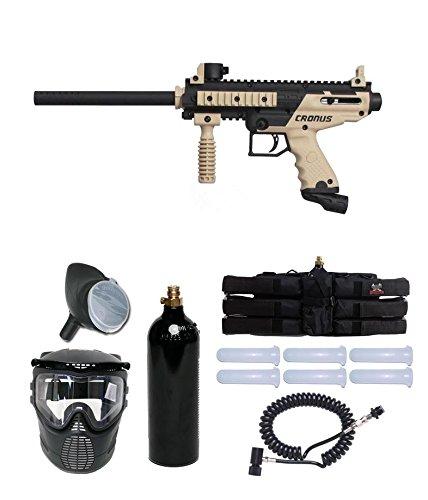 Tippmann Cronus Paintball Marker Gun -Basic Edition- Tan Power Package