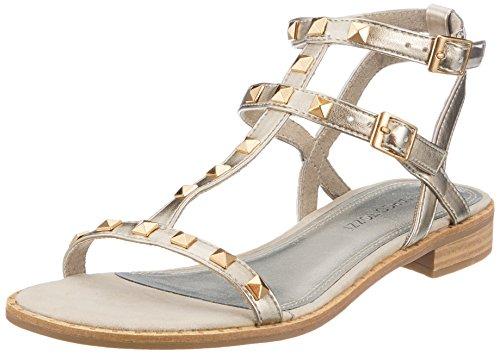 Caviglia Oro Sandali Marco Metallic Tozzi Cinturino 28102 Alla Con Donna gold qBcY6w4