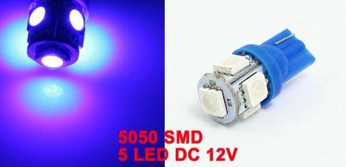 Amazon.com: eDealMax T10 904 LED Azul 5 5050 SMD luz de la placa de licencia Medidor de luz del Panel Para el coche: Automotive