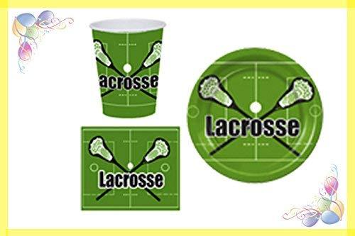 Lacrosse Party Plus, Black Party Pack, Plates Party Supplies, 9