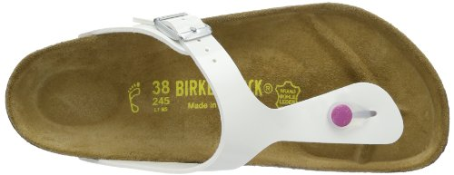 Birkenstock Classic GIZEH  BF LACK 345081 - Zuecos para mujer Blanco (Weiß (WEISS  LS PINK))