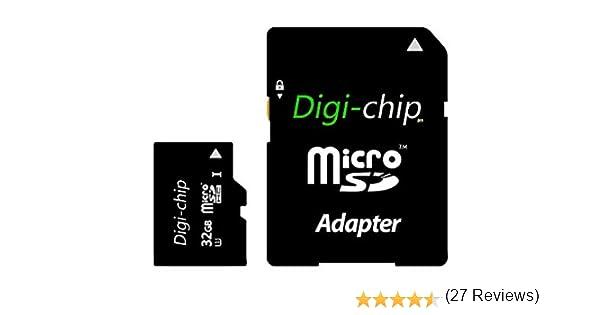 A7 y A1 Digi-Chip S5 Mini Tarjeta de Memoria Micro SD para Samsung Galaxy A3 32 GB, Clase 10, UHS-1 A5 E5 E7