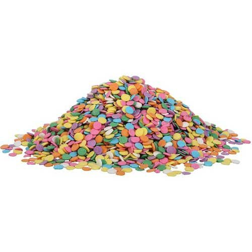 Sprinkle King Pastel Confetti Blend Non Partially Hydrogenated Decorettes, 5 Pound -- 4 per case. by Sprinkle King (Image #4)