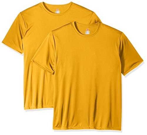 Hanes Men's Sport Cool DRI Performance Tee, Gold, Large
