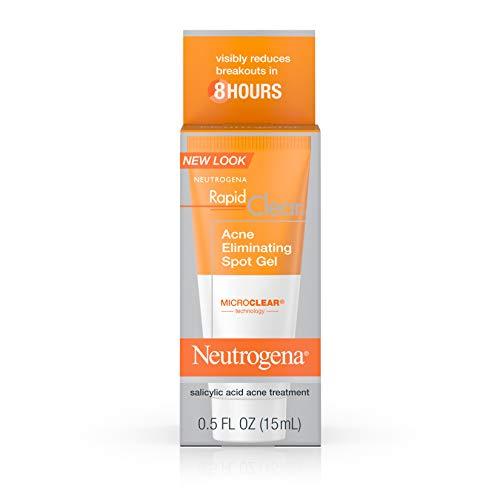 Neutrogena Rapid Clear Acne Eliminating Spot Treatment Gel with Witch Hazel and Salicylic Acid Acne Medicine for Acne-Prone Skin, 0.5 fl. oz (Pack of 2)