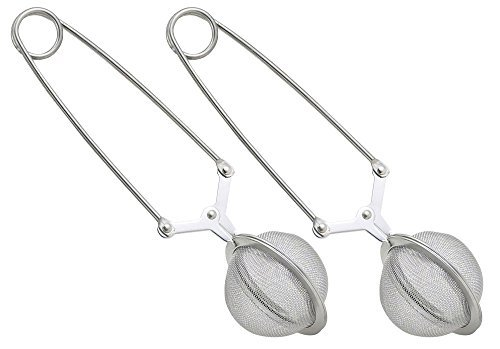 HIC Mesh Snap Ball Loose Leaf Tea Infuser, 18/8 Stainless Steel, 6-Inches x 1.5-Inches by HIC Harold Import Co.