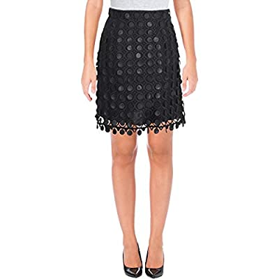 Carven Womens Jupe Courte Embroidered Night Out Mini Skirt