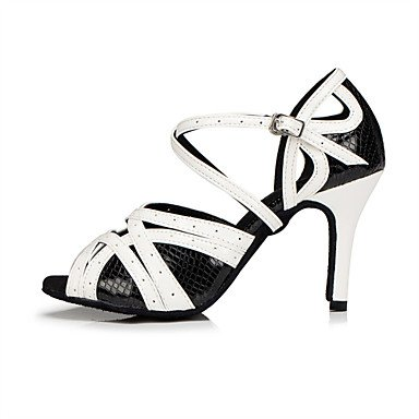 uk4 36 modern Heel Kunstleder Xiamuo Damen Weiß Latein samba 6 Stiletto 36 Us cn Schwarz Schwarz Anpassbare Eu Tanzschuhe Und tap UUxzX
