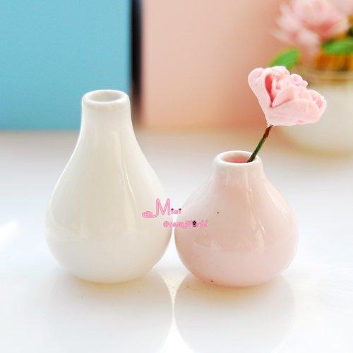 Dollhouse Miniature Vase White Minidreamworld