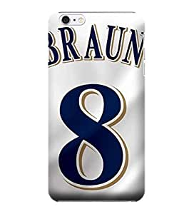 Allan Diy iPhone 6 case covers, MLB - Milwaukee Brewers #8 Ryan Braun - iPhone 6 case covers - Dtt7cqMzz4i High Quality PC case cover