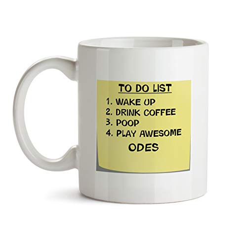 Ode Music - Odes Music Gift Mug - AA53 To Do List Post It Note Funny About Musical Lover Quote Theme Themed Coffee Gift Novelty Cup For Teacher Director Player For Men Women