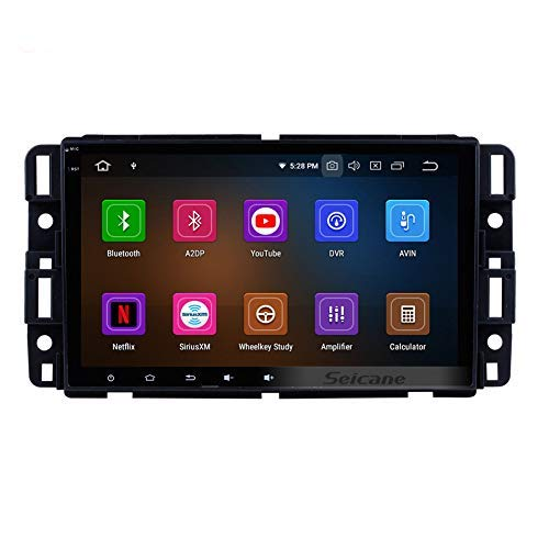 (Android 9.0 GPS Navigation System for GMC Yukon 2007-2011 Car Radio with 8 Inch HD Touchscreen Music Bluetooth WiFi (8-Core,4G+32G))