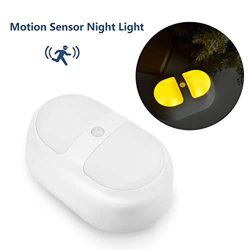 Refoss Wireless Motion Sensor LED Night Light, Cordless Battery Powered, Stick-anywhere, Safe Light for Hallway, Stairs, Bathroom, Bedroom, Kitchen, Closet, Soft Yellow Color